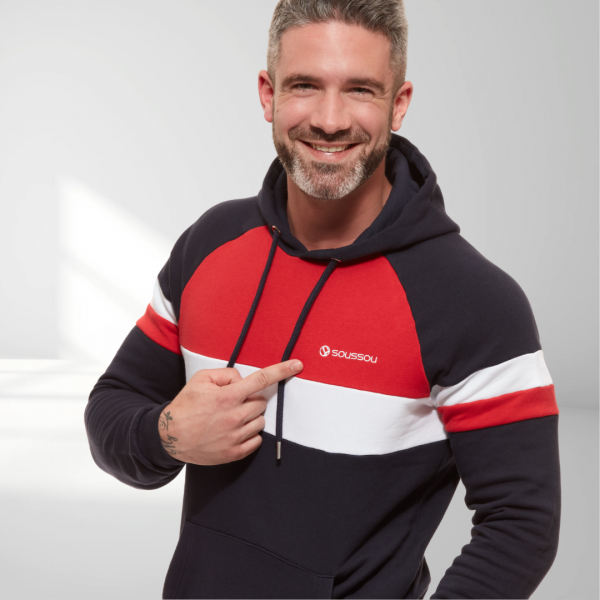 sweat tricolore homme le mans